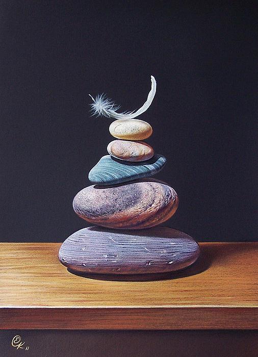 Stone Tower 1 Print by Elena Kolotusha