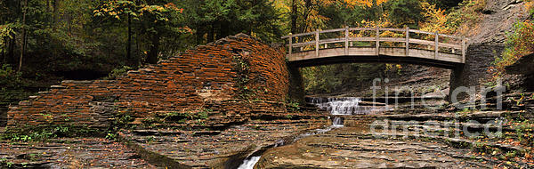 Stone Walls And Wooden Bridges Print by Joshua House
