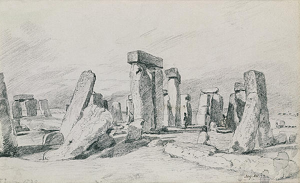 Stonehenge Wiltshire Print by John Constable