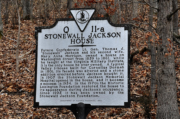 Stonewall Jackson House Print by Todd Hostetter