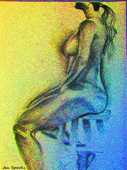 Stool Study Print by Jen Sparks
