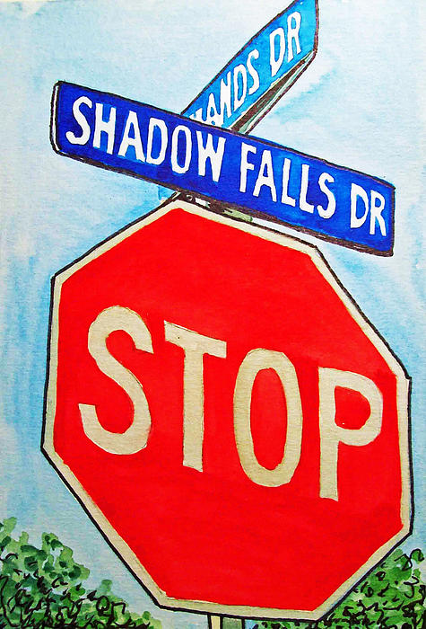 Stop Sign Sketchbook Project Down My Street Print by Irina Sztukowski
