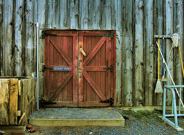 Storage Shed Print by Steven Ainsworth
