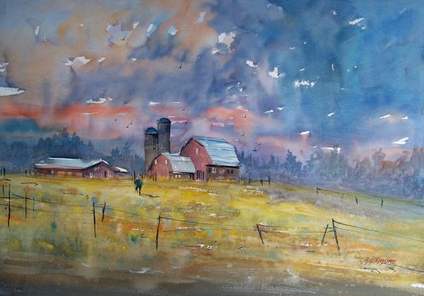 Storm Brewing Print by Ryan Radke