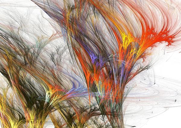 Storm In Fractal-trees Print by Stefan Kuhn