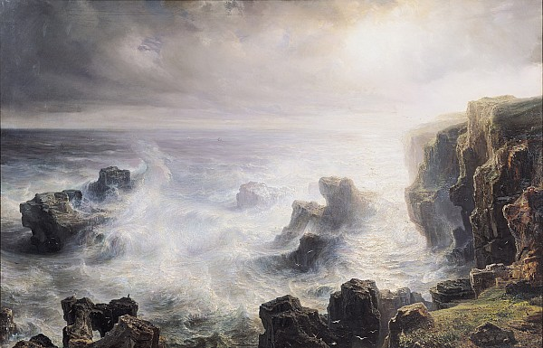 Storm Off The Coast Of Belle Ile Print by Jean Antoine Theodore Gudin