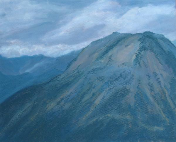 Storm Off Trail Ridge Painting  - Storm Off Trail Ridge Fine Art Print