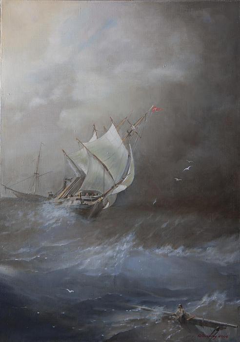 Storm On The Arctic Ocean Print by Oleg Gorovoy