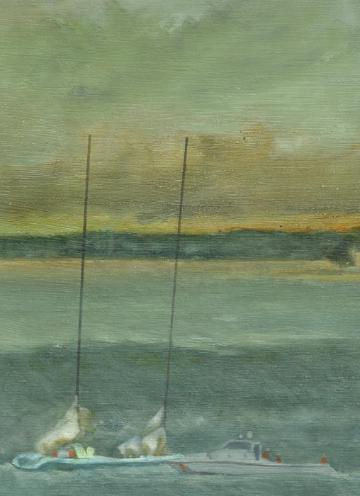 Storm On The Horizon-detail Painting