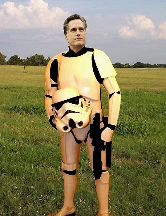 Stormtrooper Mitt Romney Print by Paul Van Scott