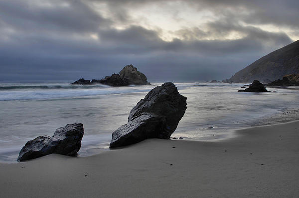 Stormy Afternoon - Big Sur Print by Stephen  Vecchiotti