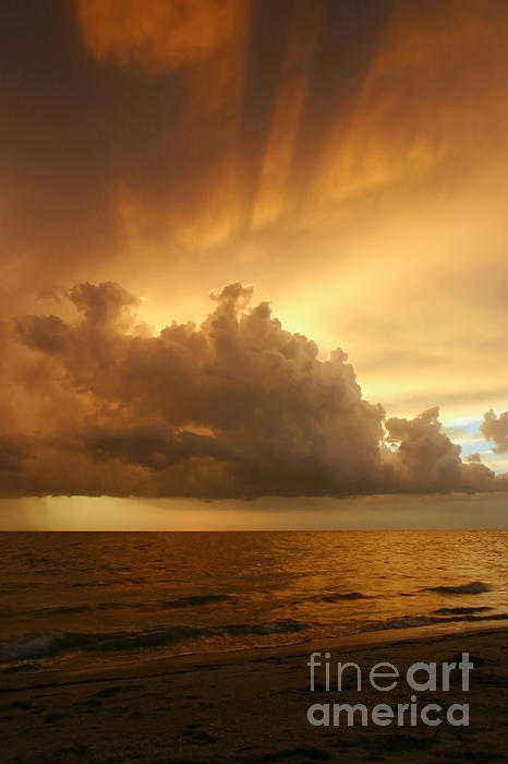 Stormy Gulf Coast Sunset Print by Matt Tilghman