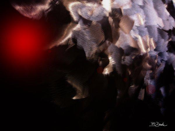 Strange Things In The Night Sky Print by Barbara Drake