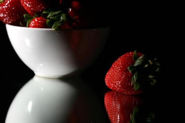 Strawberry Print by Michael Ledray