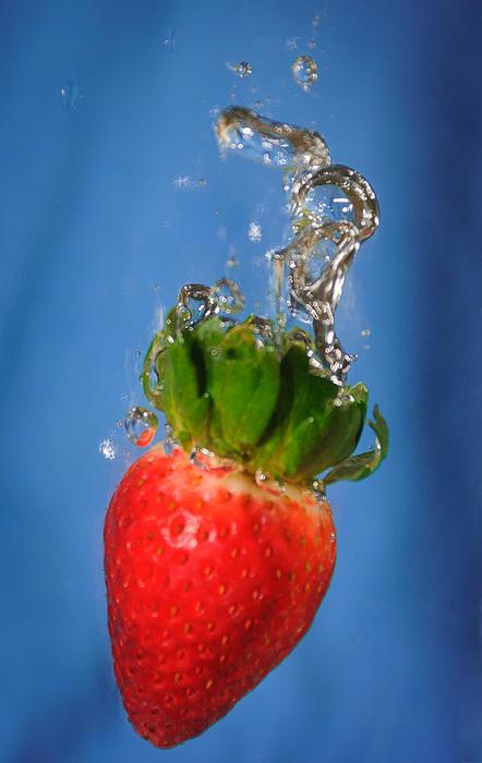 Strawberry Plunge Print by John White