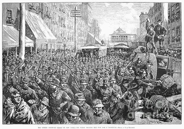 Street Car Strike, 1886 Print by Granger