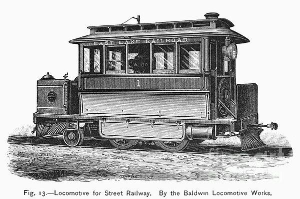 Street Locomotive, C1870 Print by Granger