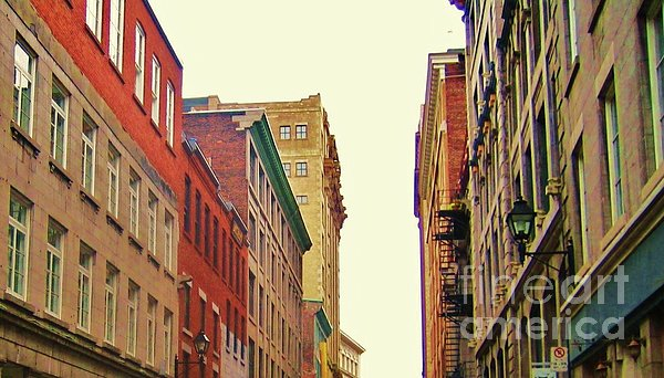 Streets Of Montreal Print by Reb Frost