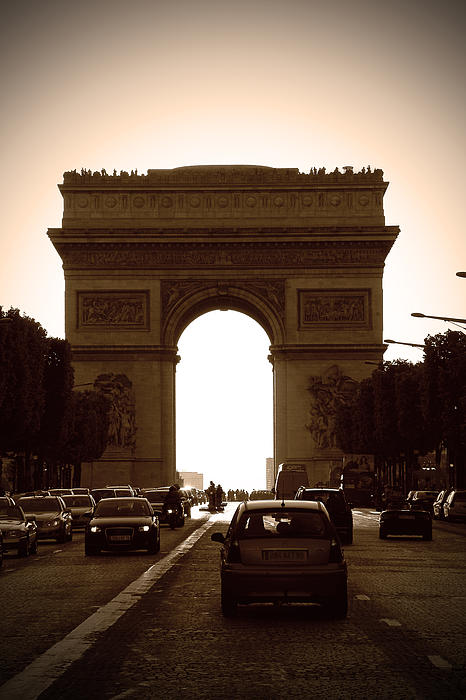Streets Of Paris Print by Kamil Swiatek