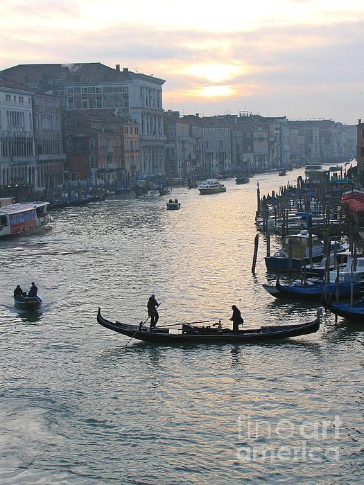 Streets Of Venice Print by Regina  Visconi