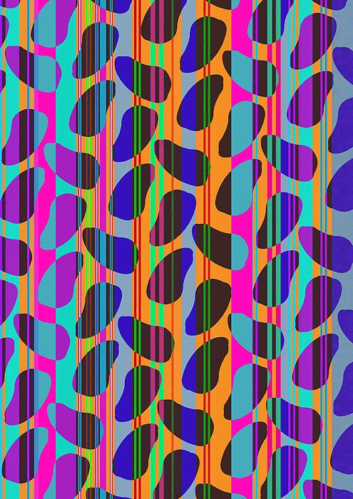 Stripe Beans Print by Louisa Knight