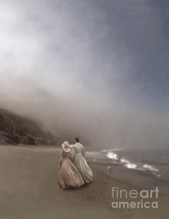 Strolling On The Beach Print by Jill Battaglia