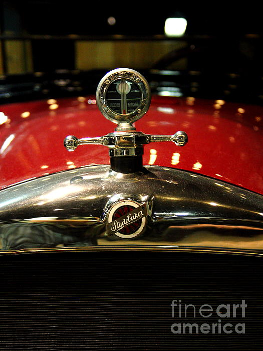 Studebaker Hood Ornament Print by Wingsdomain Art and Photography