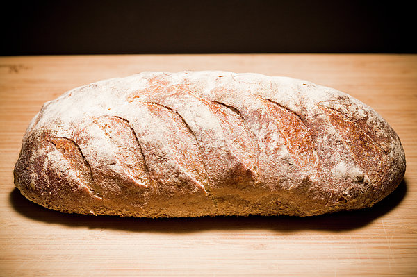 Studio Shot Of Loaf Of Bread Print by Kristin Lee