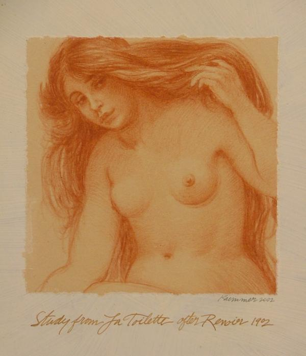 Study from La Toilette after Renoir Painting