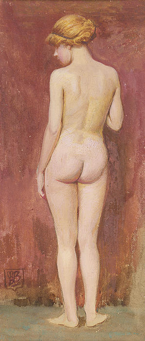 Study Of A Nude Print by Murray Bladon