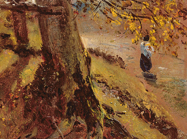 Study Of Tree Trunks Print by John Constable