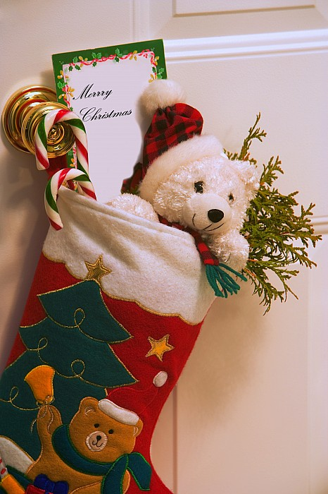 Stuffed Christmas Stocking Print by Carson Ganci