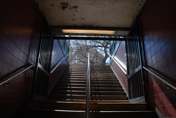 Subway Stairs To Freedom Print by Rob Hans