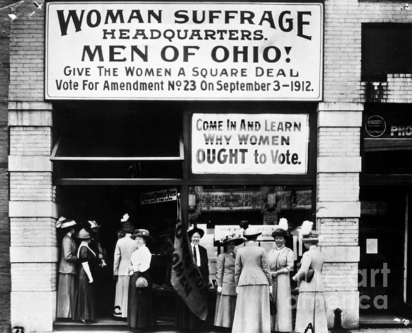 Suffrage Headquarters Print by Granger