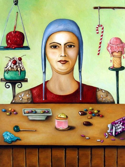 Sugar Addict Print by Leah Saulnier The Painting Maniac