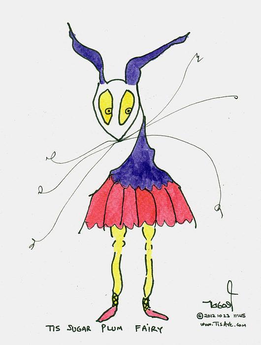Sugar Plum Fairy Print by Tis Art