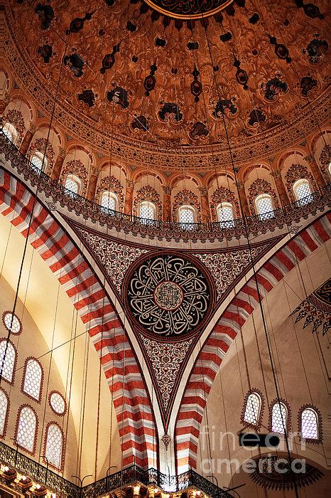 Suleymaniye Interior Print by John Rizzuto