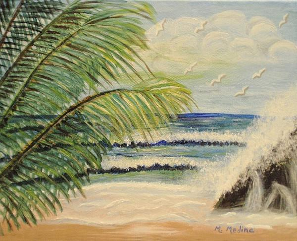 Summer Breeze Print by Maria Medina