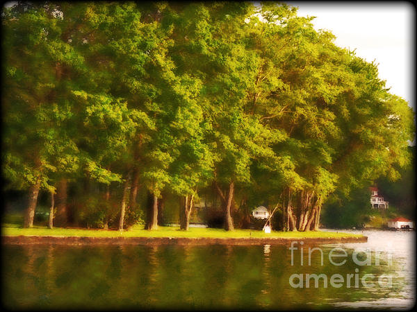 Summer Trees Lake Hopatcong Print by Maggie Vlazny