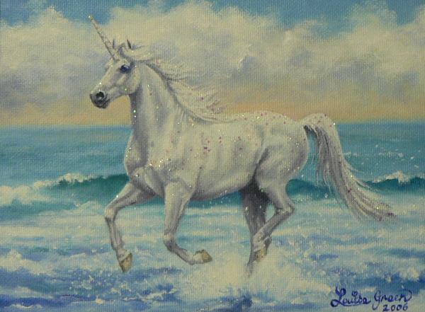 Summer Unicorn Painting  - Summer Unicorn Fine Art Print