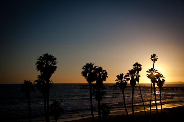 Sun Going Down In California Print by Ralf Kaiser