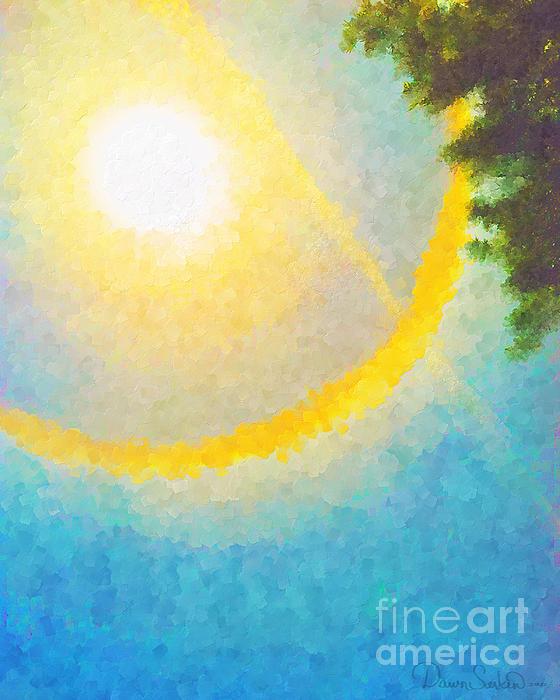 Sun Halo 03 Print by Dawn Serkin