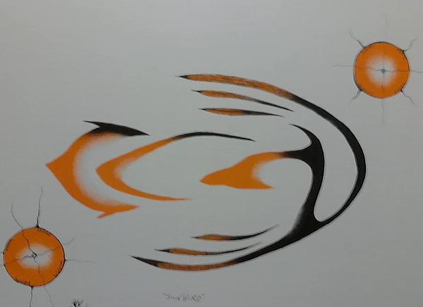 Sunbird Print by Peter Hawke Hill