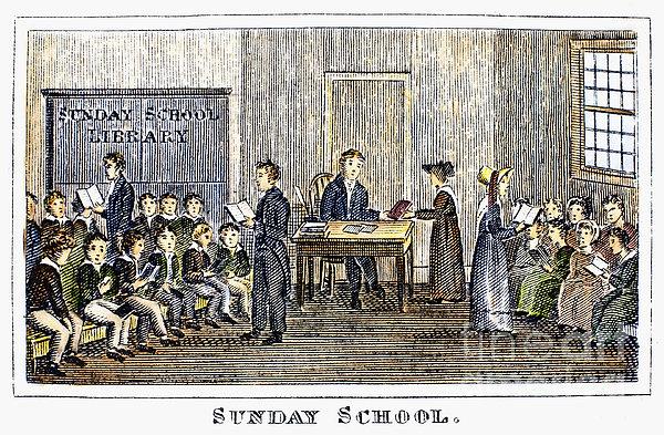 Sunday School, 1832 Print by Granger