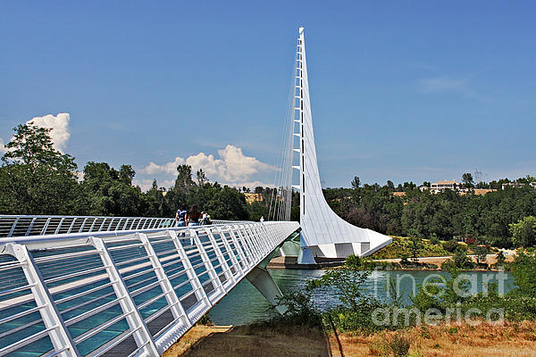Sundial Bridge - Sit And Watch How Time Passes By Print by Christine Till