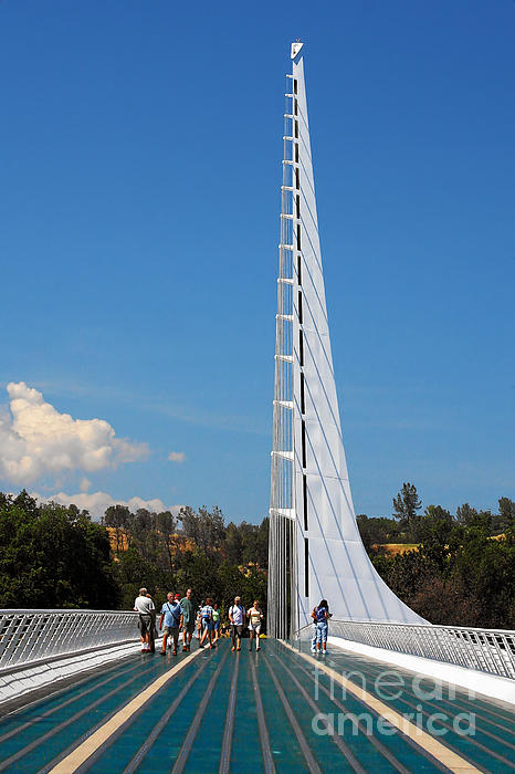 Sundial Bridge - This Bridge Is A Glass-and-steel Sculpture Print by Christine Till