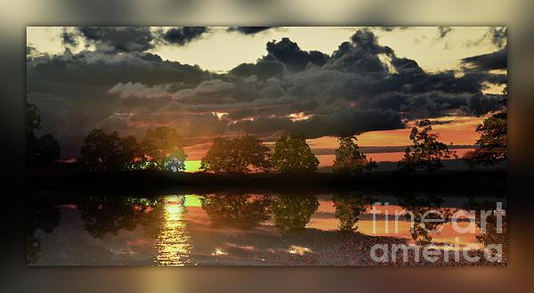 Sundown In The Lake Print by Bruno Santoro