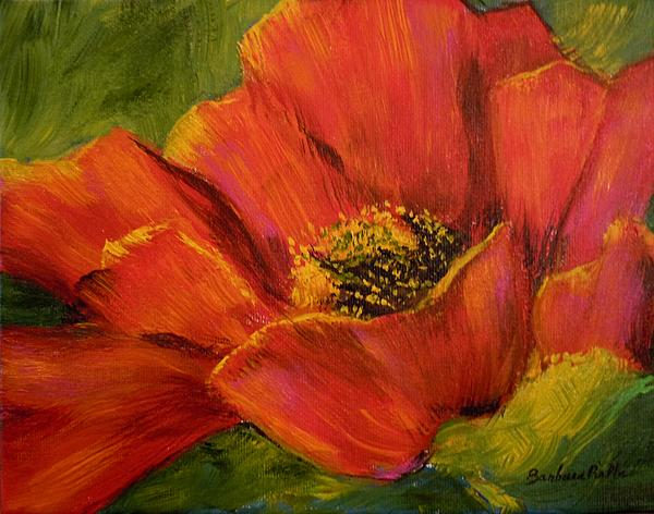Sunlit Poppy Painting