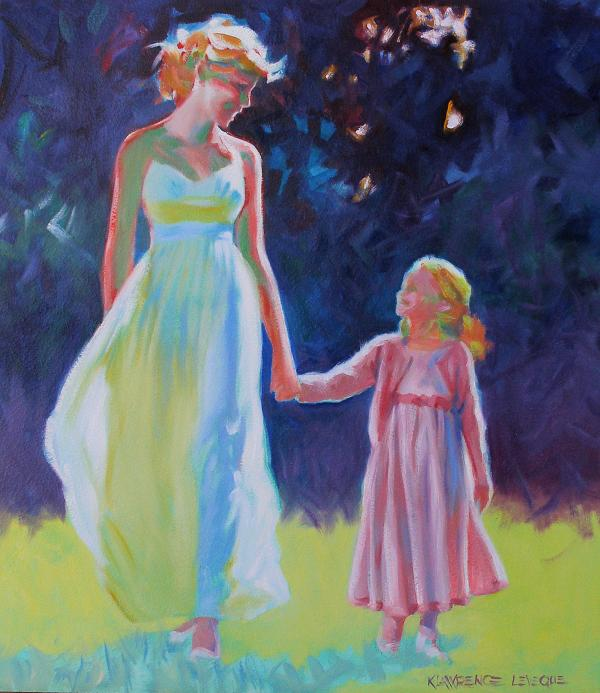 Sunlit Walk Print by Kevin Lawrence Leveque
