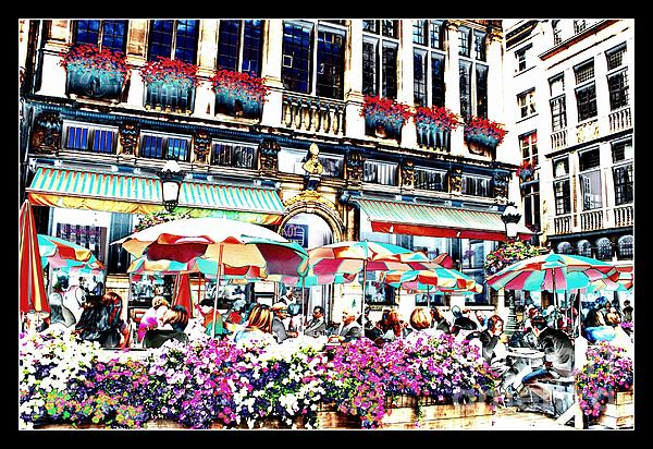 Sunny Day On The Grand Place Print by Carol Groenen